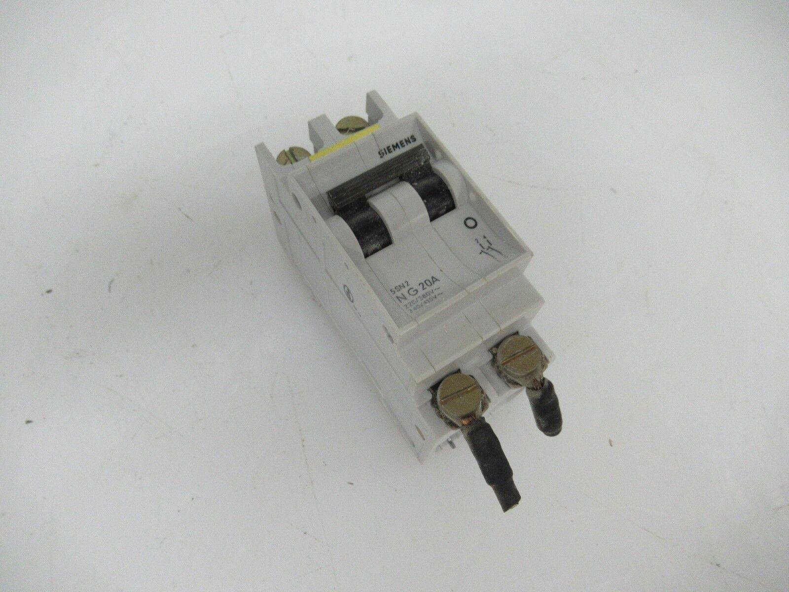 SIEMENS NG 20A 2 Pole Din Rail Circuit Breaker