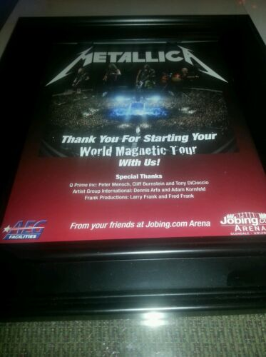 Metallica Death Magnetic Tour Glendale, Arizona Concert Promo Ad Framed!