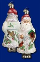 glistening Birdhouse Santa (40148) Old World Christmas Glass Ornament