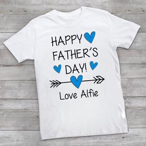 Personalised Felice Festa del Papà ragazzi children/'s Kids T Shirts T-Shirt Top