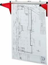 AdirOffice Drop Lift Wall Rack for Blueprints Safco Mayline 616