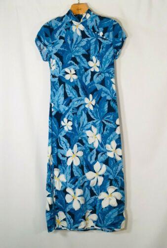 Princess Kaiulani Maxi Dress Vintage Small Blue Fl