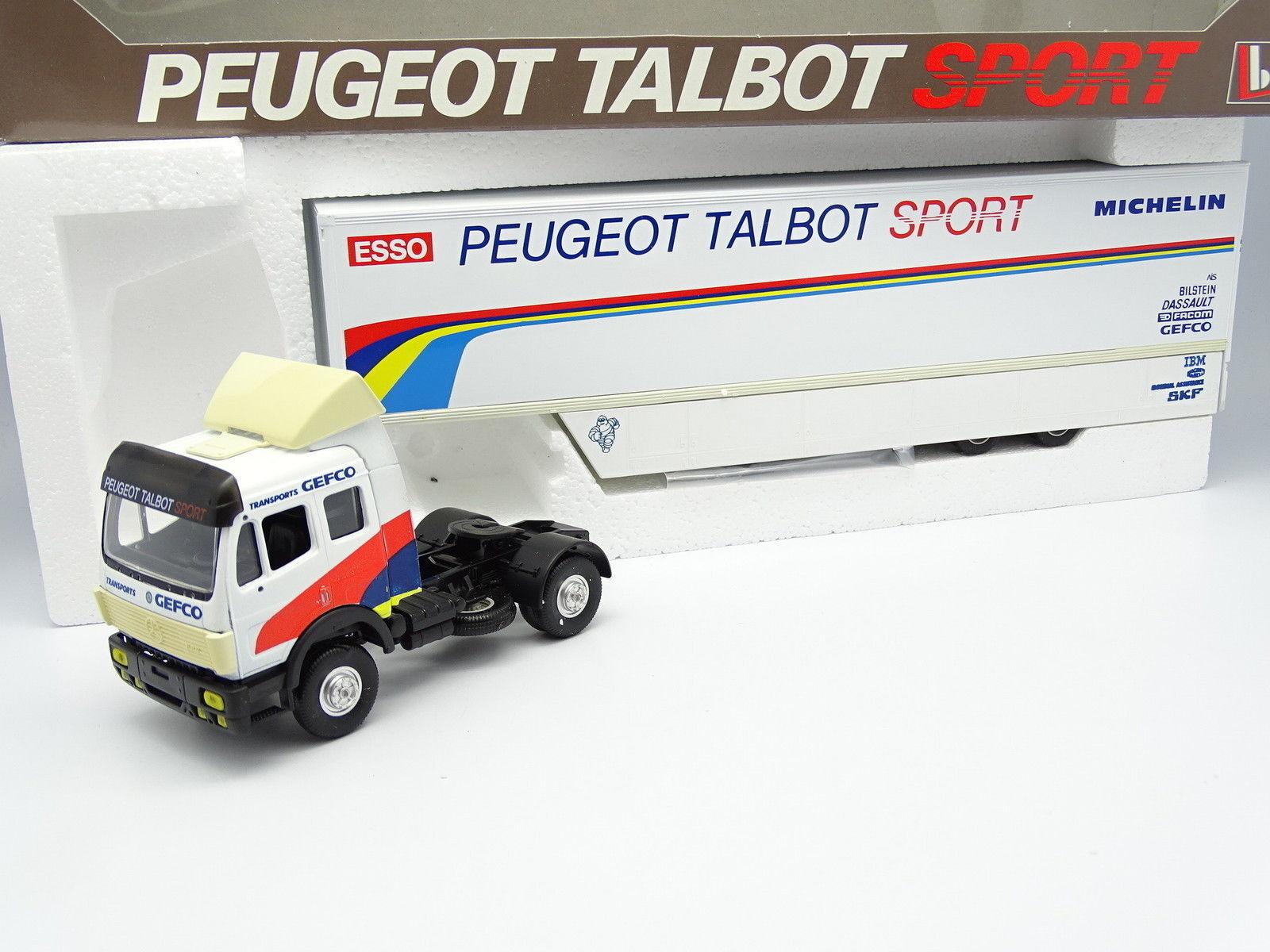 Eligor lbs 1   43 - mercedes 1911 eps wohnmobil peugeot - talbot sport 905 in le mans