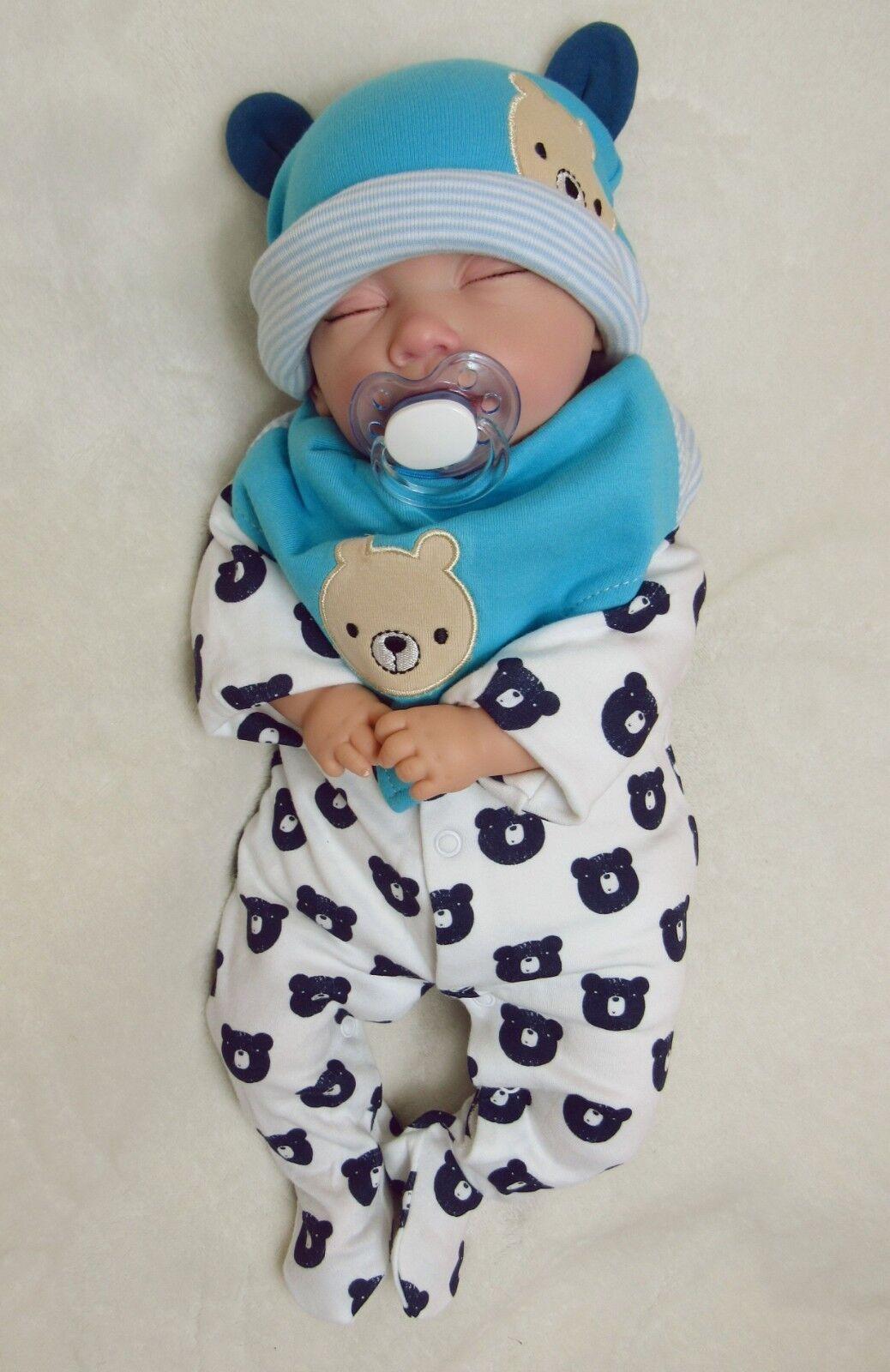 RINATO Baby Boy Doll Orso, dormire il neonato -  BabyDollArtUK