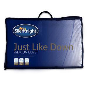 Silentnight Just Like Down Duvet / Quilt - 13.5 Tog - Single Double or King Size