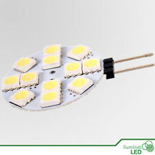Bombilla Circular LED G4 LED 12 SMD 5050 Blanco Puro 12V - Consumo 4W