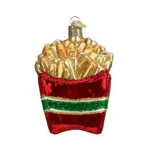Old-World-Christmas-FRENCH-FRIES-32099-N-Glass-Ornament-w-OWC-Box