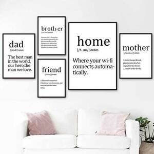 Details About Wall Painting For Bedroom Minimalist Wall Art Prints Mother Dad Life Quotes