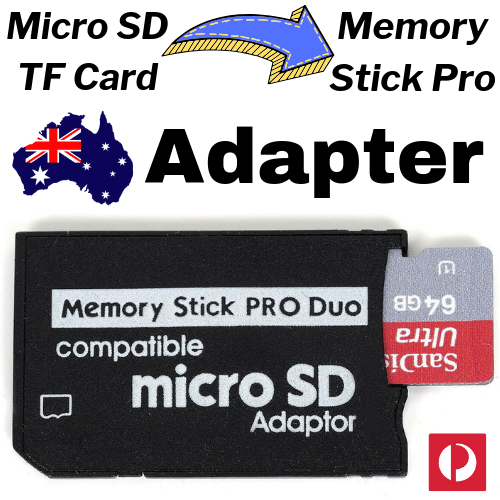 MICRO SD HC TF Card to MEMORY STICK Pro Duo Reader Adapter MS Converter PSP SDHC