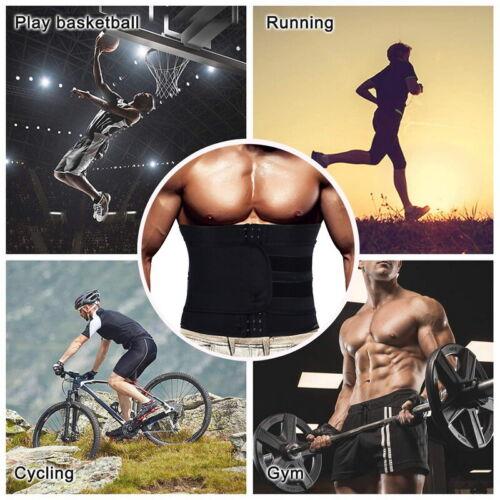 Men/'s Waist Trainer Sauna Sweat Belt Sport Body Shaper Slimming Fat Weight Loss