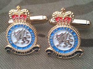 Medic RAF Military Cufflinks Enamel Royal Air Force
