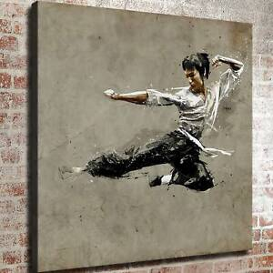 """12""""x12""""bruce lee practice hd canvas prints painting home"""