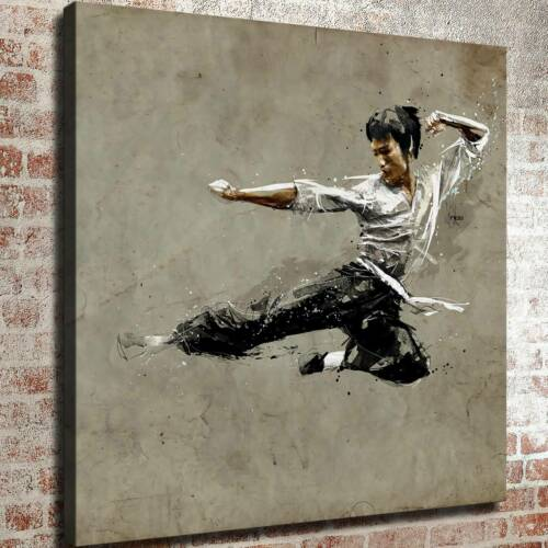 """12/""""x12/""""Bruce Lee Practice HD Canvas Prints Painting Home decor Wall art Picture"""