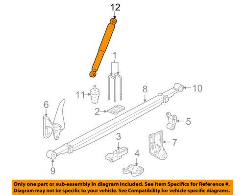 GM OEM Rear-Shock Absorber or Strut 20955415