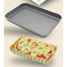 Fluted Retangle Carbon Steel Nonstick Quiche/Tart Pan Loose Removable Bottom