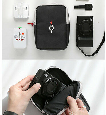 Charger Pouch Mobile Battery Cable Camera Bag Holder Galaxy iPhone Travel Box