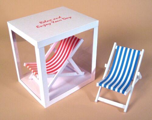 A4 fabrication carte Modèles - 3D chaise longue.