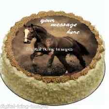 Cake topper edible digital image icing Horse REAL FONDANT