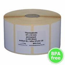 10 Rollen Etiketten 60x35 mm Thermo Etiketten 5.000 pro Rolle für Zebra Drucker