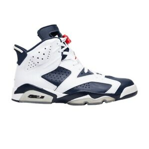 new concept 422f5 6e3d4 Details about 2012 Nike Air Jordan 6 Retro OLYMPIC SZ 15 WHITE NAVY BLUE  RED 384664-130 usa vi