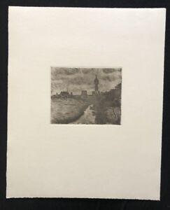 Friedrich-Schaper-Cuxhaven-II-Radierung-aus-dem-Nachlass-1978-Signatur