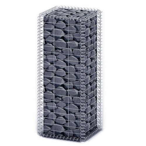 100 x 30 x 30 cm Gabione Stein-Gabionen Steinkorb Mauer Säule 5x10 Maschenweite