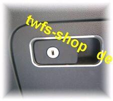 D vw golf 5 cromo marco para la guantera de acero inoxidable pulido