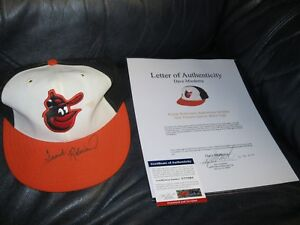 FRANK-ROBINSON-Game-Used-AUTOGRAPHED-HAT-PSA-CERTIFIED