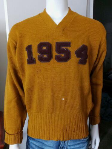 Vintage 1950's Miller & Boerman Wool College Varsi