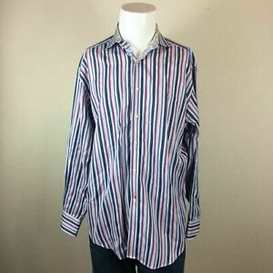 Mens-Thomas-Dean-Large-Striped-100-Cotton-Button-Up-Long-Sleeve-Shirt-p16-3