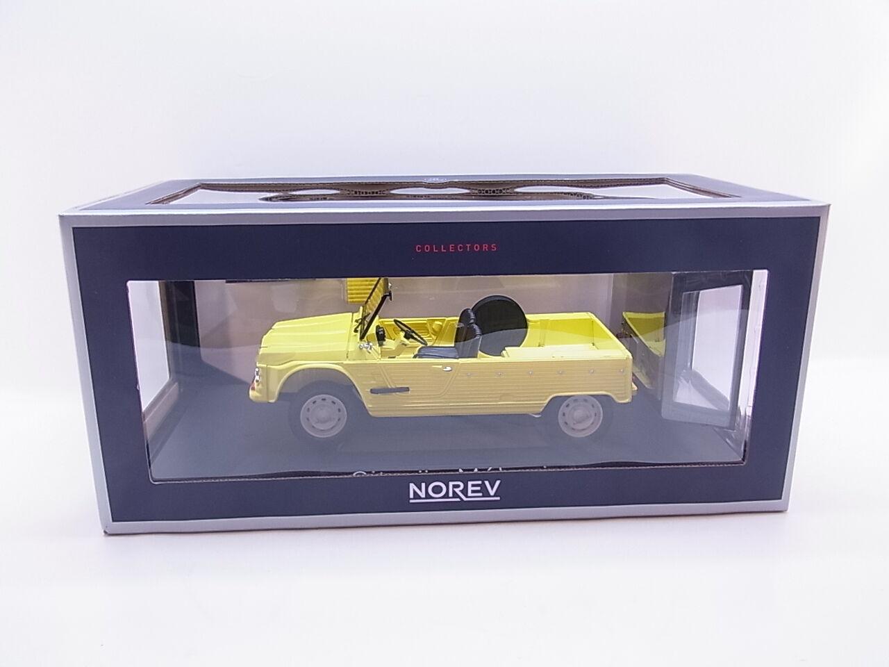 Lot 38442   NOREV 181525 CITROEN MEHARI 1983 jaune 1 18 Voiture Miniature Nouveau dans neuf dans sa boîte