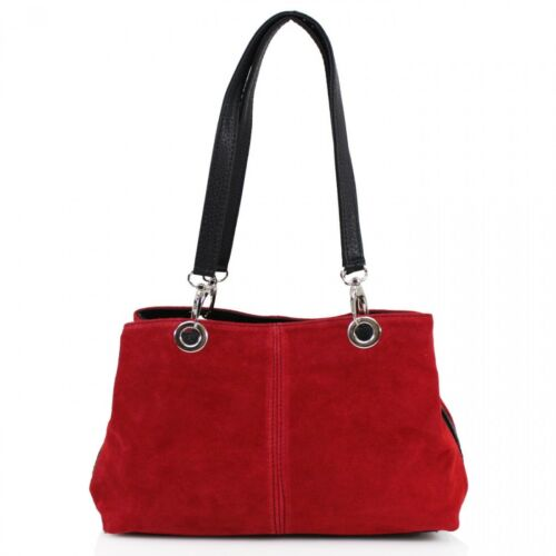 New Womens Small Real Suede Italy Leather Handbag Tote Hobo Shopper Shoulder Bag