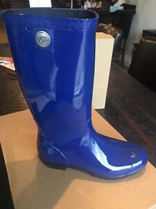 ca8ff60d09e Details about UGG SHAYE Rain Boots Woman BLUEJAY COLOR 1012350 100%  Authentic New Sz 9