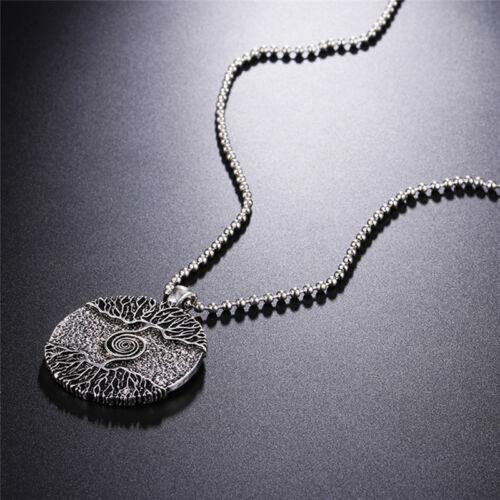 Silber Heilung Baum des Lebens Halskette Anhänger Amulett Talisman Nordic NF