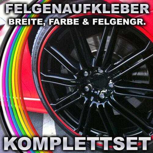 NEW! Felgenrandaufkleber Felgenaufkleber Auto&Motorrad Felgen Streifen Ringe F24