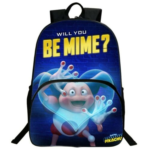 UK Unisex 3D Pokémon Detective Pikachu Backpack Kids School Bag Laptop Rucksack