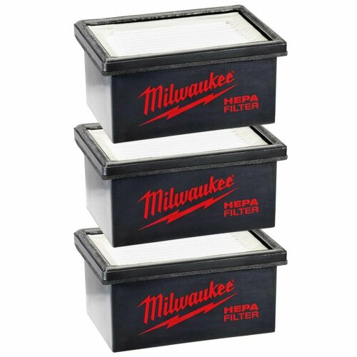 3pk Milwaukee 49-90-2306 Hammervac Replacement HEPA Filter for 2306-20