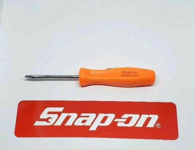 Snap on tools pocket MAGNET END screwdriver orange w//clip flat tip