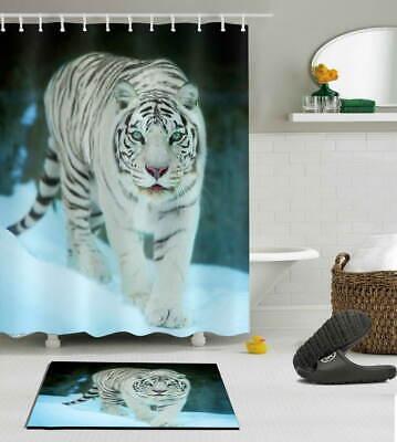 Gentle Tiger Waterproof Bathroom Polyester Shower Curtain Liner Water Resistant