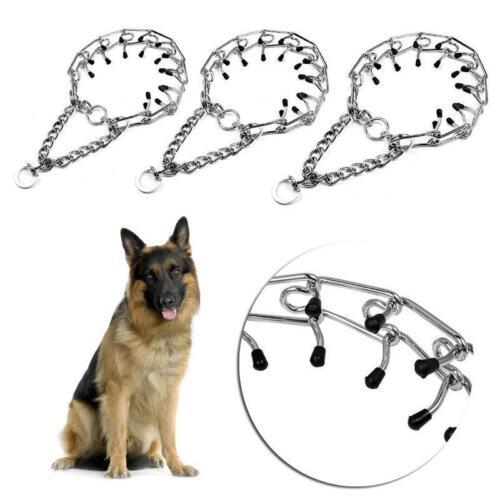 Dog Collar Pinch Chain Training Choke Prong Pet Supply Metal Steel Necklace shan