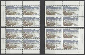 Canada Uni 600 MNH. 1972 $1 View of Vancouver, Matched Set of Plate #1 Blocks VF