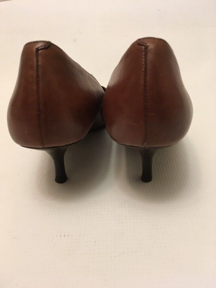 COLE HAAN Braun Leder Heels Heels Heels Pumps Schuhes Career 7.5 From BRAZIL cdf163