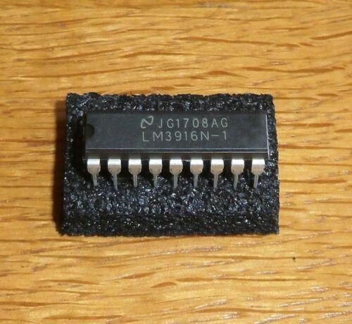 LM 3916 N-1 = Dot // Bargraph LED Display Driver , DIP18