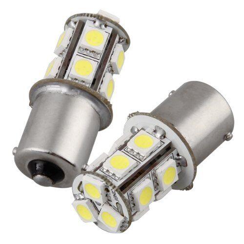 2 x 1156 BA15S 13 LED 5050 SMD Lights Bulb White 12V Rear Light BT