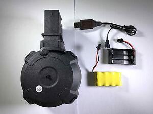 BATTLEAXE G36 Sound Control Electric C-Mag Magazine for Marui Airsoft AEG