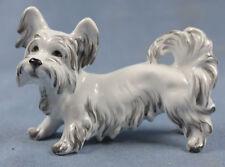 Skye terrier Figur Hund hundefigur augarten wien Porzellanfigur möller