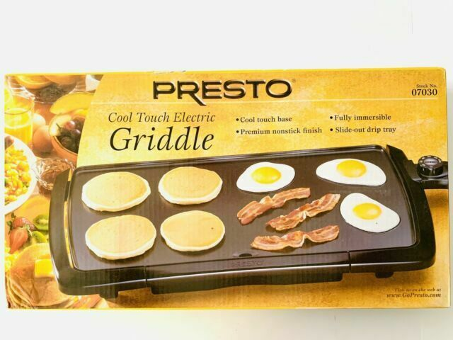 Presto 07030 Cool Touch 20 Inch Electric Griddle Black For Sale Online Ebay