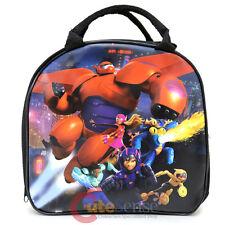 Disney Big Hero 6 School Lunch Bag Baymax Insulated Snack Bag with Bottle- Black