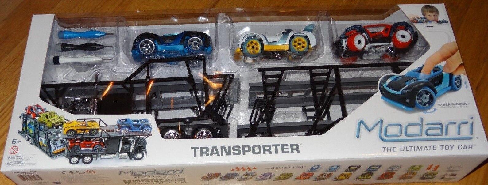 Transporter Modarri Car Carrier with 3 cars Design, Build, Drive Finger Powerosso