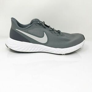 Nike Mens Revolution 5 BQ3204-005 Cool Grey Running Shoes Lace Up Low Top Size 9